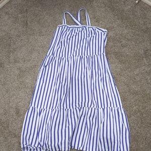 Universal Threads blue & white stripe sundress